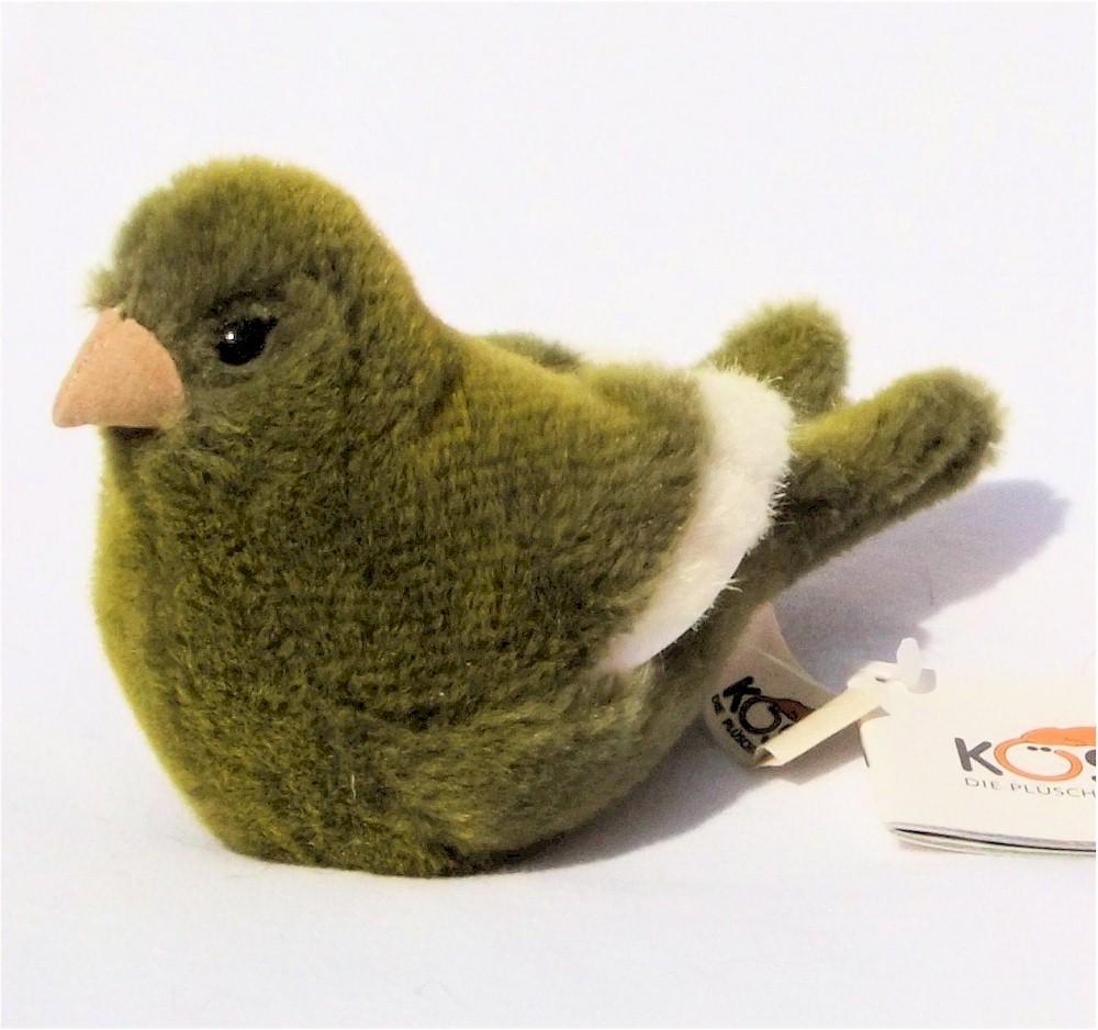 k sener 6571 kanarienvogel gruen vogel 15 cm kuscheltier stofftier pl schtier ebay. Black Bedroom Furniture Sets. Home Design Ideas